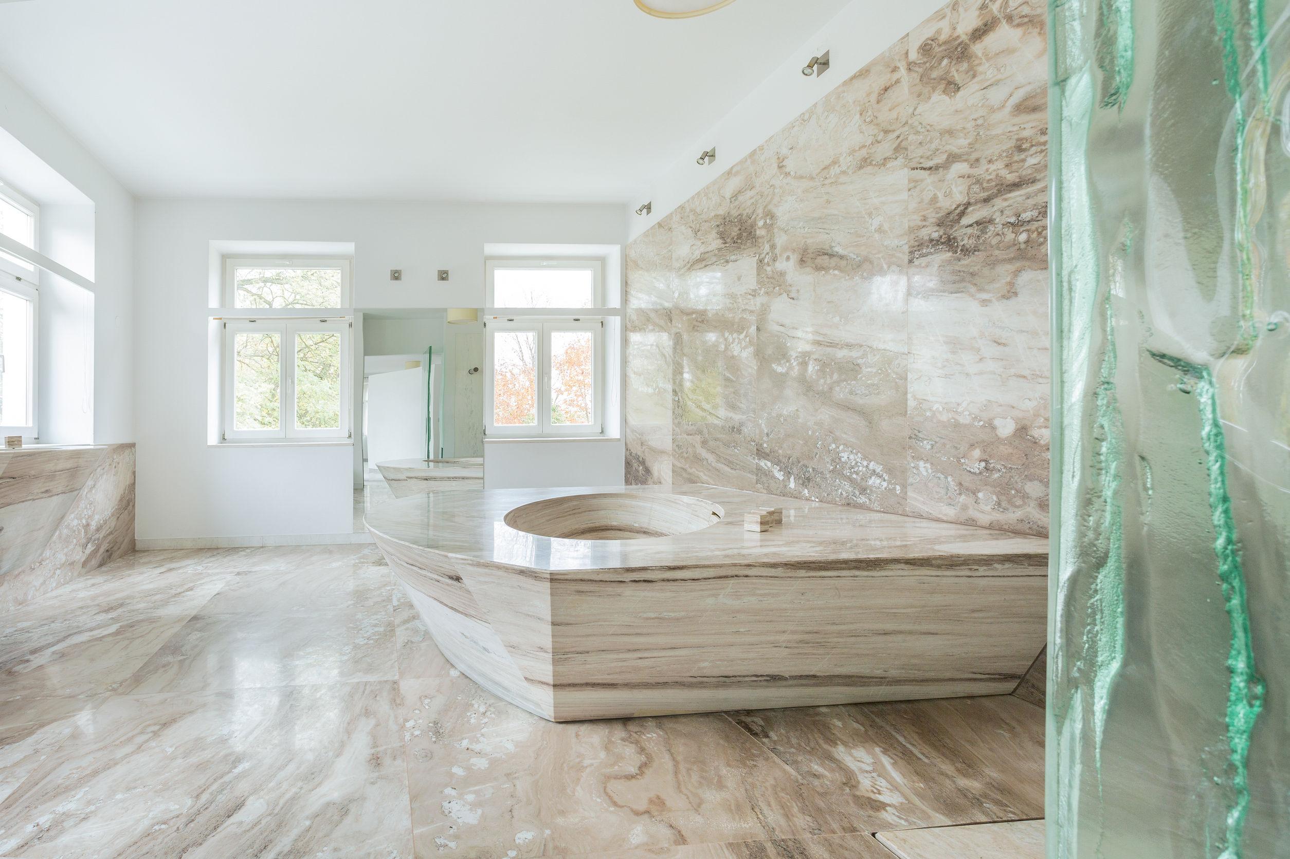Badkamers Noord Holland : Marmeren badkamer in amsterdam noord holland decostone amsterdam