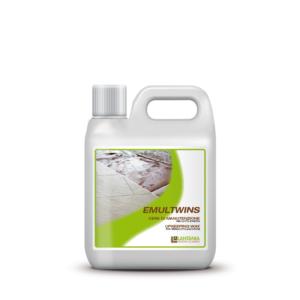 Emultwins - product voor het onderhoud van gepolijst en deels gepolijste oppervlakken. Beschermt tegen slijtage en vuil, zorgt voor een aantrekkelijk glanzend oppervlak