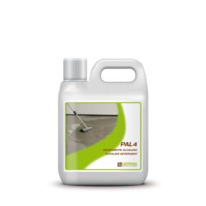 Pal 4 - Alkalische samenstelling speciaal ontwikkeld voor het reinigen van de ongepolijste, gezandstraalde en gebouchardeerde oppervlakken van organisch vuil
