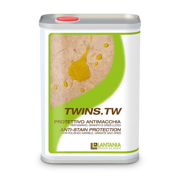 TWINS TW: Impregneermiddel voor gepolijst marmer en graniet, het beschermt oppervlakken tegen vlekken veroorzaakt door water en olie.